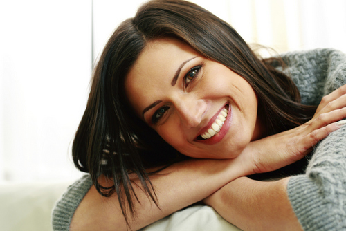 Clackamas, OR woman smiling about the restorative procedure she received at Sunnyside Dentistry